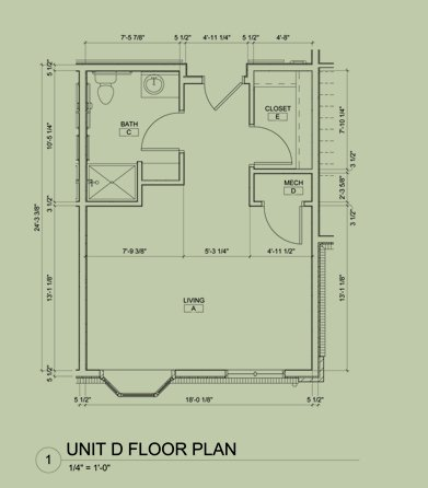 Floorplan for efficiency units