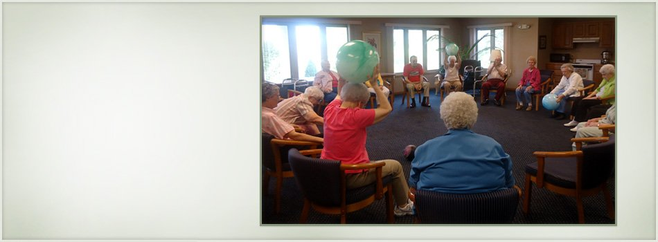 Seniors in their Exercise Class