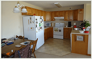 Spacious kitchen, Countryside Living signage