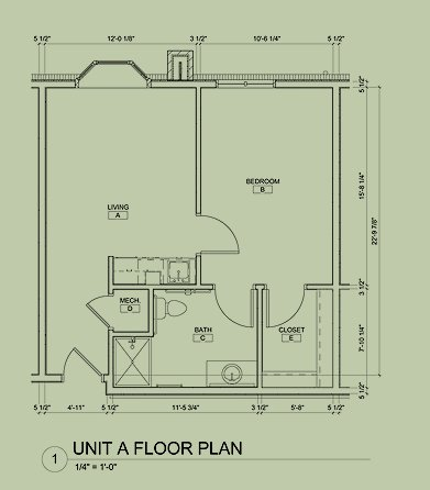 Floorplan for Our assisted living apartments