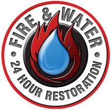 Fire and water restoration Logo