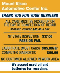 Auto Repair | Mount Kisco, NY | Mount Kisco Automotive Center Inc. | 914-864-1501