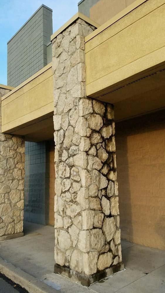Dirty stone column