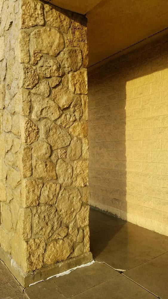 Clean stone column