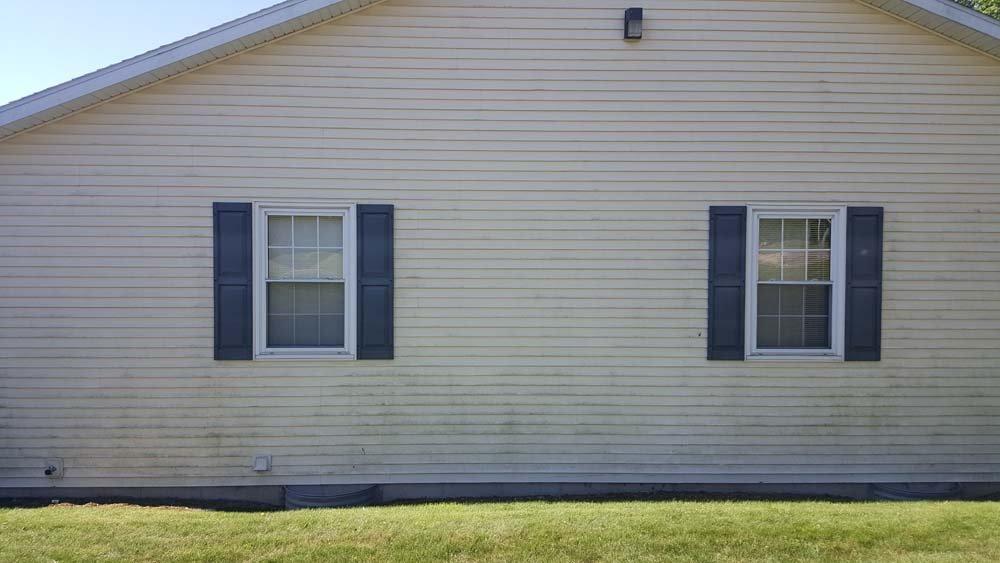 Dirty house exterior