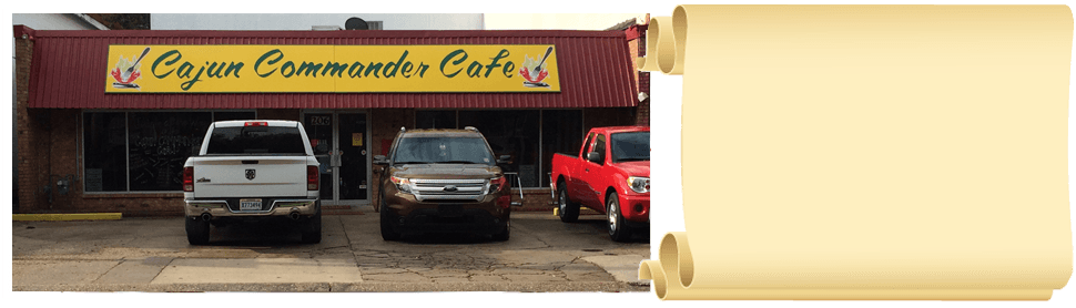 Cafe | Youngsville, LA | Cajun Commander Catering | 337-349-4557