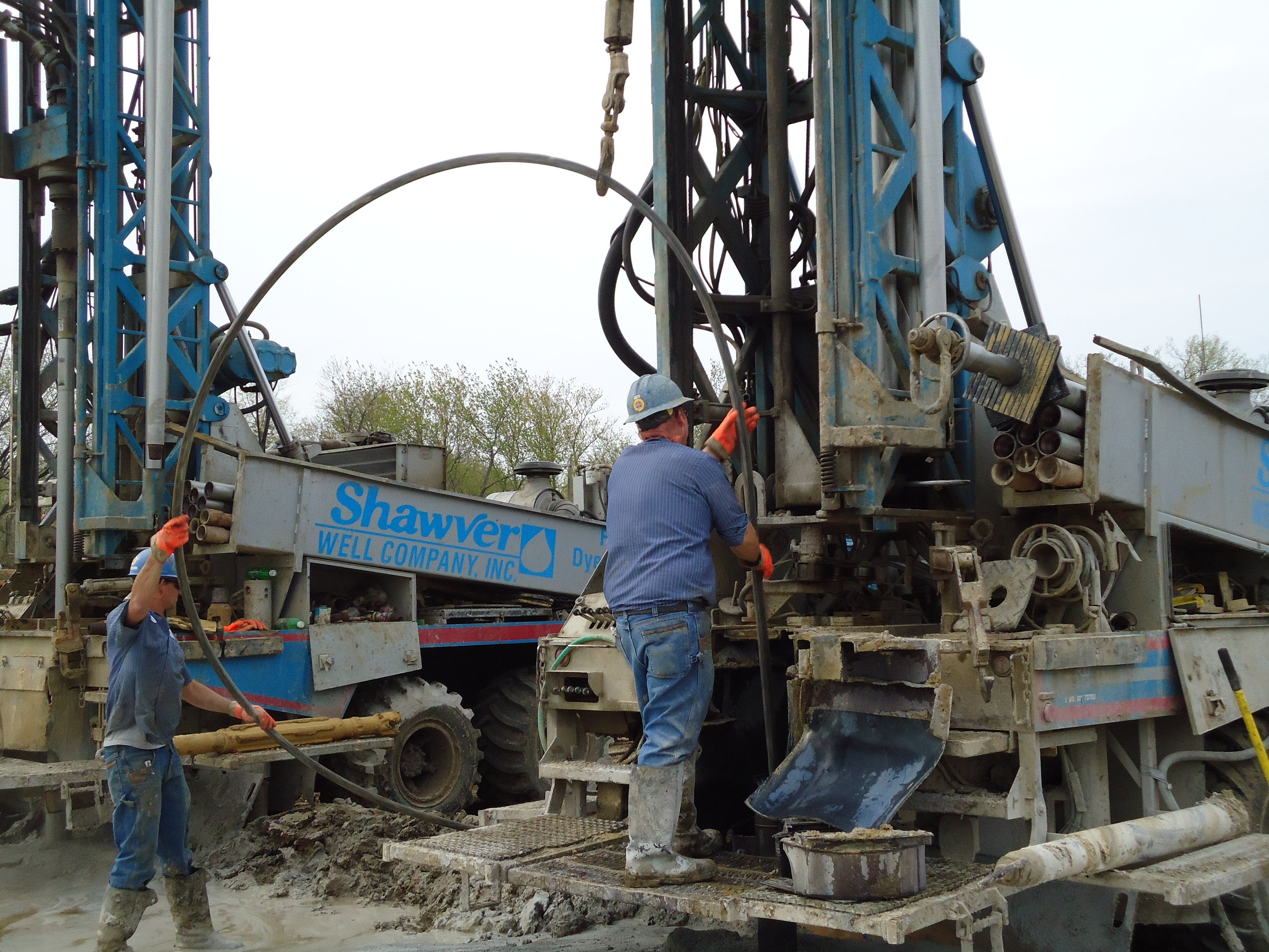 Pump drilling