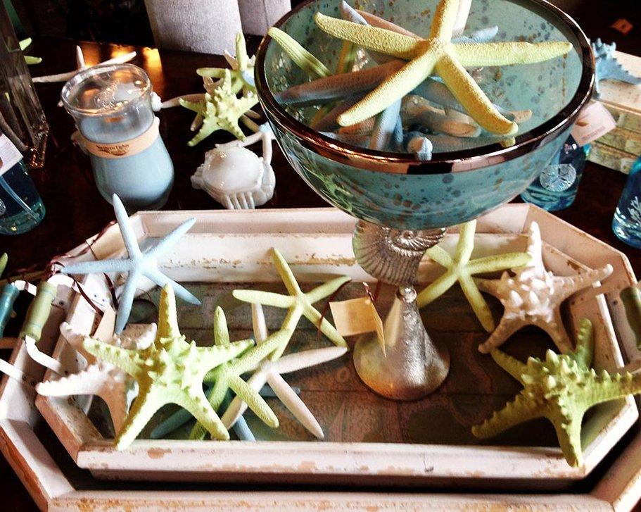 Starfish and variety of home decor
