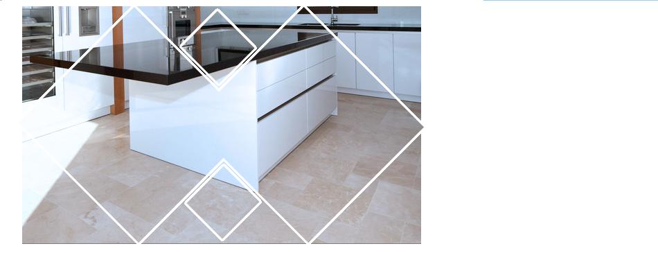 Remodeled kitchen tiles