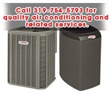 Heating Services - Burlington, IA - Hallgren-Schildknecht Inc - Air conditioner - Call 319-754-5793 for quality air conditioning and related services.
