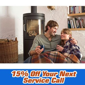Heating services - Wichita, KS - Bob Oliver's Heating & Cooling, Inc.  - fireplace - 15% Off Your Next Service Call