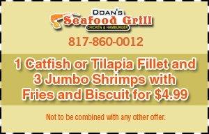 Specials - Arlington, TX - Doan's Seafood Grill