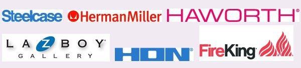Steelcase, Herman Miller, Haworth, La-Z-Boy, Hon, Fireking