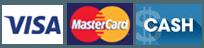 Visa   MasterCard   Cash