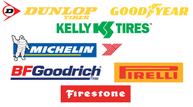 Dunlop,Good Year,Kelly Tires, Michelin, Yokohama, BF Goodrich, Pirelli, Firestone