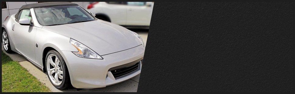 Gray convertible sportscar