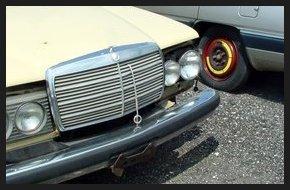 Front bumper of a vintage car