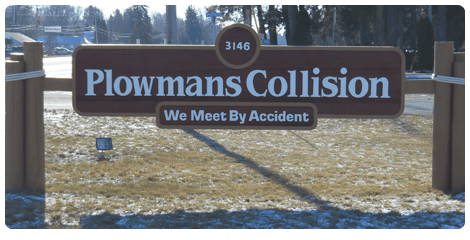 Collision repair signboard