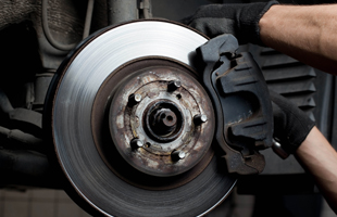 Car brakes getting replaced