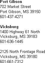 Banking - Vicksburg, MS - RiverHills Bank
