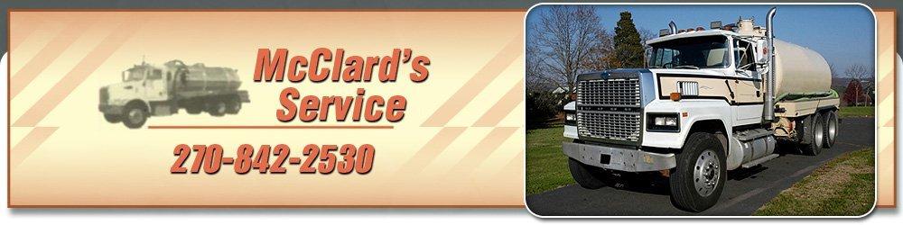 Septic Tank Service - Scottsville, KY - McClard's Service