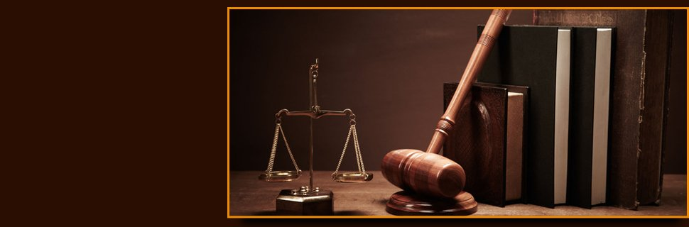 Justice scale, law books and gavel