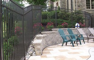 Wall fence beside patio