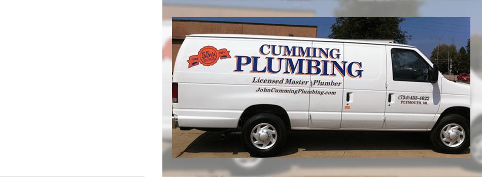 Cumming Plumbing, new van