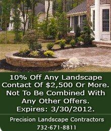 Landscape Contractors - Middletown, NJ - Precision Landscape Contractors-Landscape design