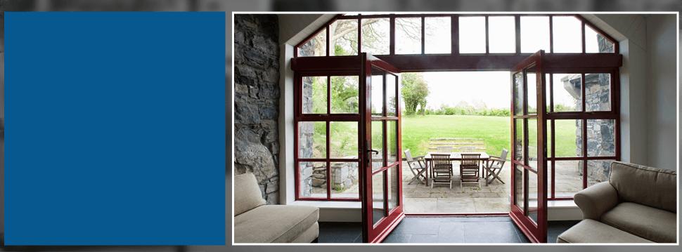 Open glass door