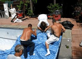 Torrington, CT - pool closing - Harwinton Swim Pool Co. Inc.