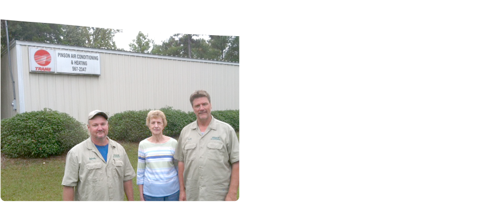 Owners of Pinson Air Conditioning & Heating Inc at a wide