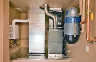 Hvac system at a basement