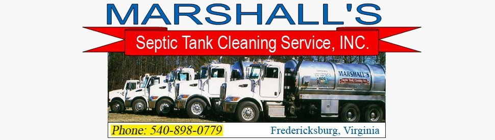 Septic Tanks - Fredericksburg, VA - Marshall's Septic Tank Cleaning Service, INC.