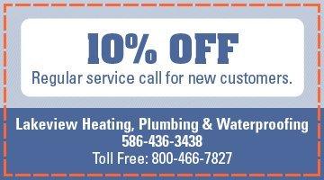 HVAC Specials - Warren, MI - Lakeview Heating, Plumbing & Waterproofing