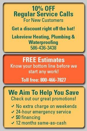 Plumbing - Warren, MI - Lakeview Heating, Plumbing & Waterproofing