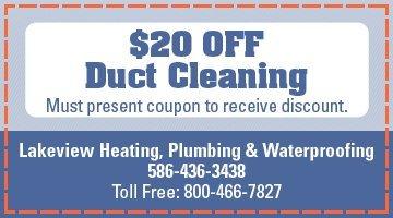 Warren, MI - HVAC Specials - Lakeview Heating, Plumbing & Waterproofing