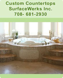 Marble Countertops - Chicago, IL - SurfaceWerks Inc.