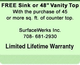 Marble Counter Tops  - Chicago, IL - SurfaceWerks Inc.