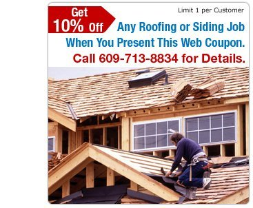 Roof Repair - Little Egg Harbor, NJ - Bayshore Roofing & Siding - Roof Repair - Get 10% Off Any Roofing or Siding Job When You Present This Web Coupon. Call 609-713-8834 for Details. Limit 1 Per Customer.