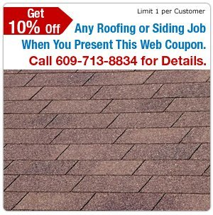 Asphalt Roofs - Little Egg Harbor, NJ - Bayshore Roofing & Siding - Asphalt Roof - Get 10% Off Any Roofing Job When You Present This Web Coupon. Call 609-713-8834 for Details. Limit 1 Per Customer.