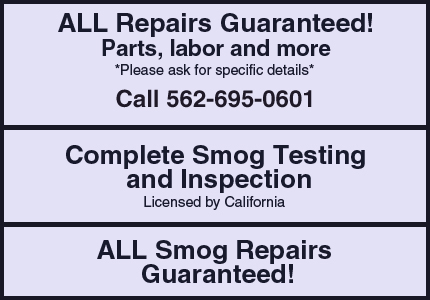 Auto Repair - Whittier, CA - Whittier Smog & Auto Repair