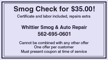 Whittier Smog & Auto Repair - Tires - Whittier, CA