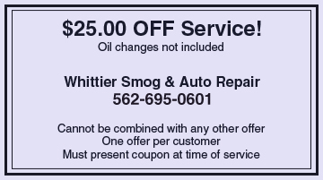 Whittier, CA - Tires - Whittier Smog & Auto Repair