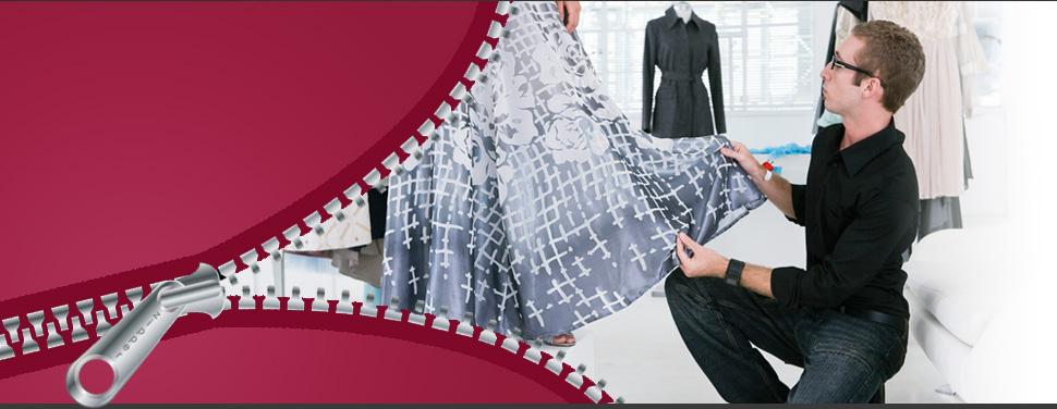 Staff altering a dress