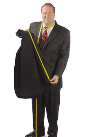 Owner measuring a suit