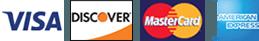 Visa, Discover, MasterCard, and American Express