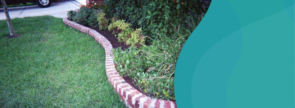 Landscape paver with plants