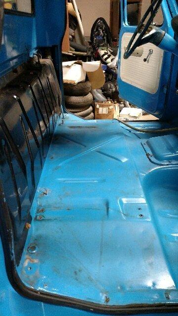 Blue truck floor Before