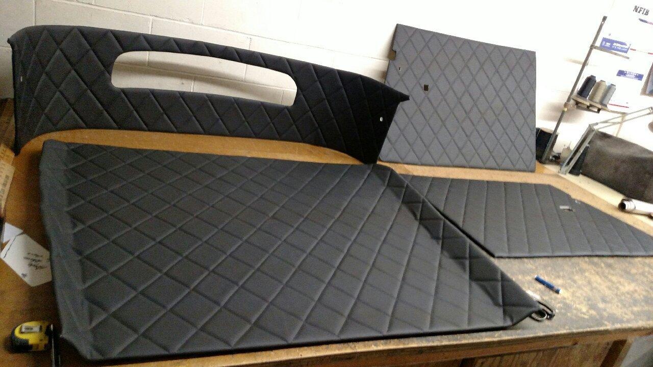 Diamond pleated panels